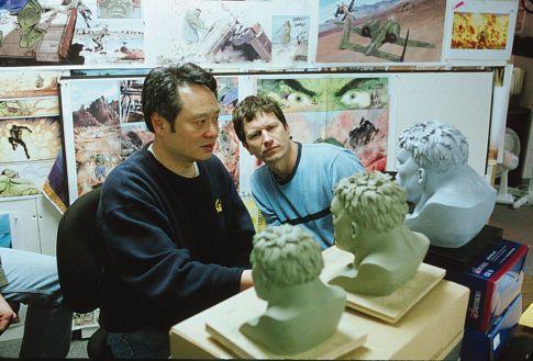Ang Lee and Rick Heinrichs in Hulk (2003)