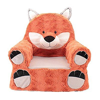 Adorable Animal Adventure Sweet Seats Fox Plush Chair for Toddlers Ages 2+
