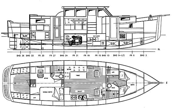 Redwing Hybrid 40 - Power Cruiser/Trawler - Boat Plans - Boat Designs | Boats, Ships and Tugs ...