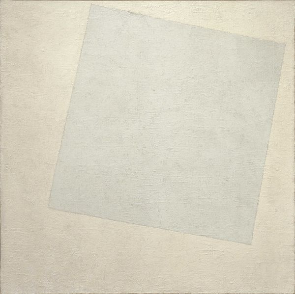 Kazimir Malevitch, Carré blanc sur fond blanc, 1918, huile sur toile, 79.4 × 79.4 cm. Source et (C.) MoMA