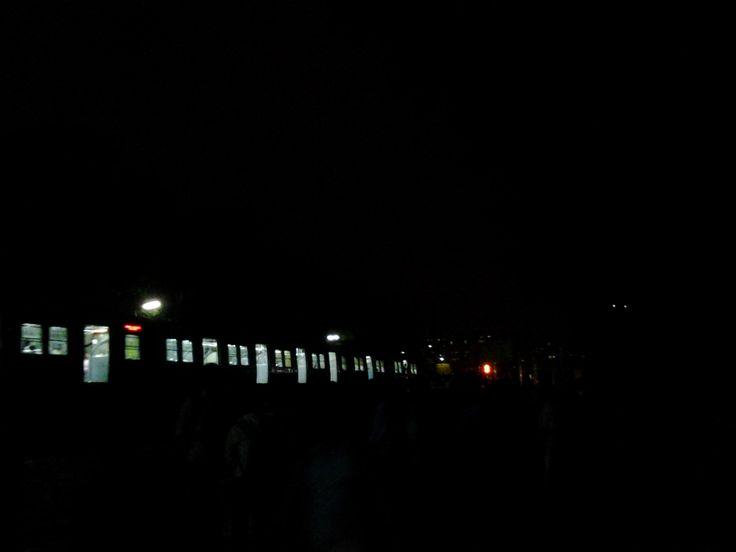 https://flic.kr/p/xvAMmr | Night Peircer | Metro rail in a blackout night