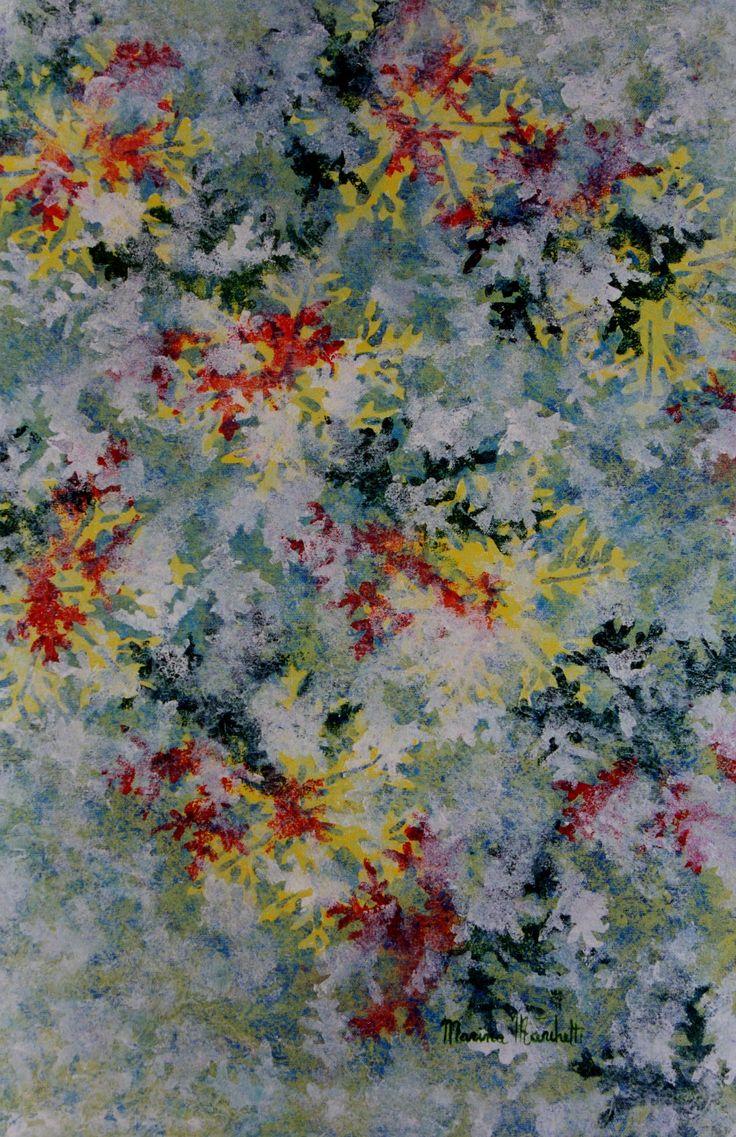#quadro acrilico#serie cristalli di neve#marinamarchetti#fantastico#colori