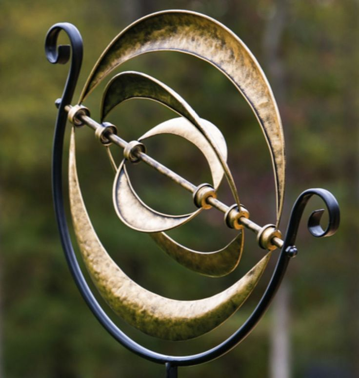 New Yard Wind Spinner Garden Decor Windmilll Outdoor Kinetic Metal Art Sculpture #EvergreenEnterprises