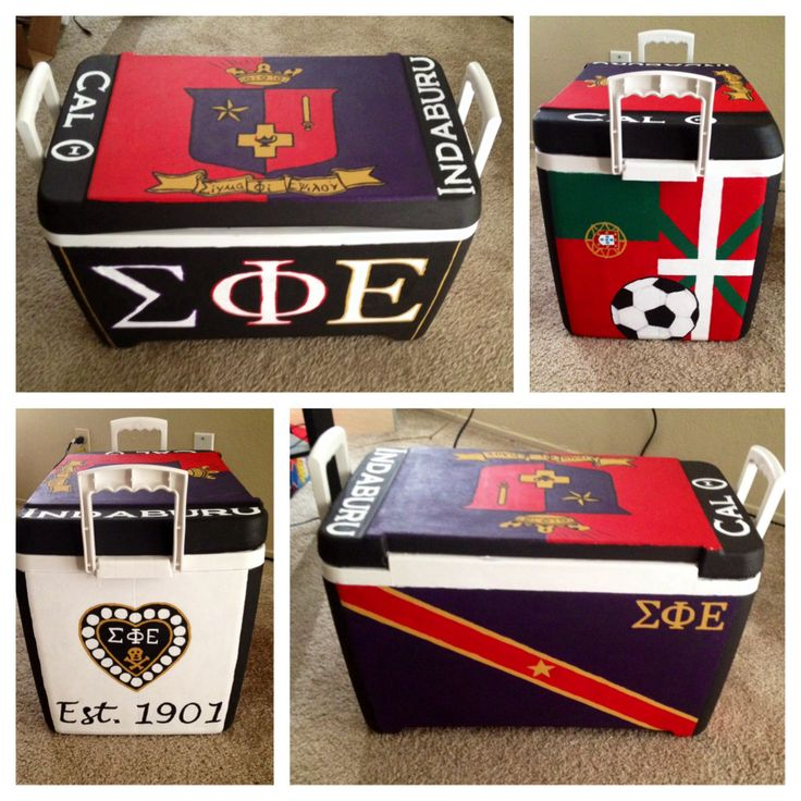 Sigma Phi Epsilon hand painted fraternity cooler #SigEp