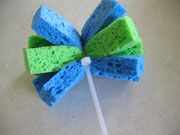 make wet water sponges. easy and fun!