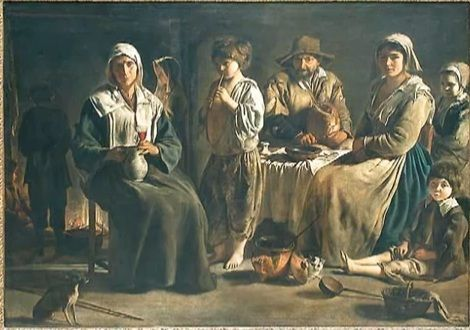 Peasant Family - Louis Le Nain.  1642.  Oil on canvas.  113 x 159 cm.  Musee du Louvre, Paris, France.