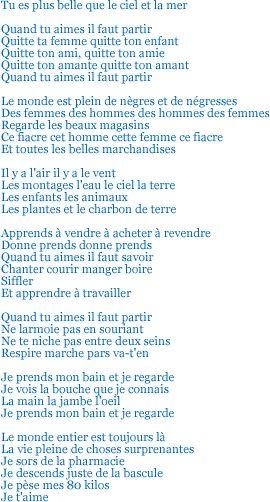 Tu es plus belle ... poème de Blaise Cendrars