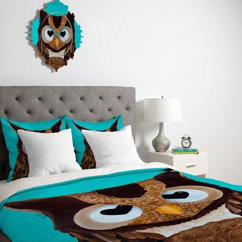 High Quality Mandy Hazell Owl Love You Duvet Cover #heart #teal #owl #bedding #