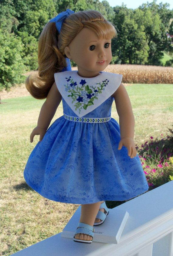 WELCOME Maryellen Welcome Dress for American Girl by Farmcookies. $46.00