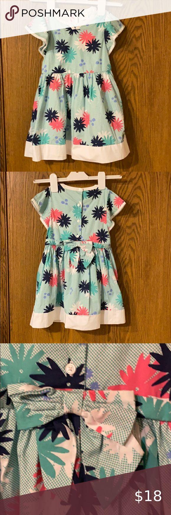 Gymboree Flower Print Dress Size 5t Girls Cotton Dresses Kids Dresses Cream Knitted Dress [ 1740 x 580 Pixel ]