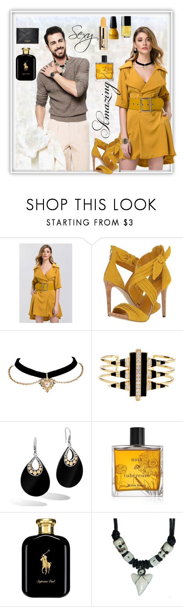 """Casual chic, classe"" by jaja8x8 ❤ liked on Polyvore featuring GUESS, Noir Jewelry, John Hardy, Miller Harris, Champion, Polo Ralph Lauren and Balmain"