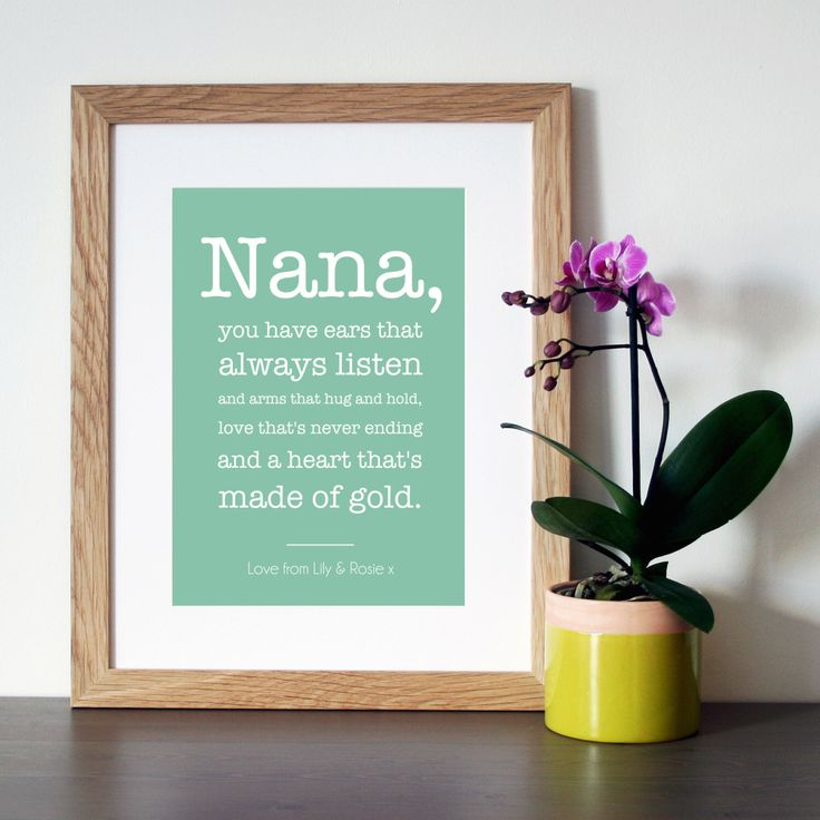 PERSONALISED GIFT for Grandma/Nanny/Nana - Quote Print - Wall Art  - Poster - Nanny Gift - Nana Gift - Grandma Gift - Grandmother Gifts by Hopeandlovedesign on Etsy https://www.etsy.com/listing/232575993/personalised-gift-for-grandmanannynana