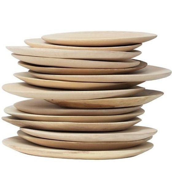HK-living Holzteller, braun, Ø 24-30cm - lefliving.de