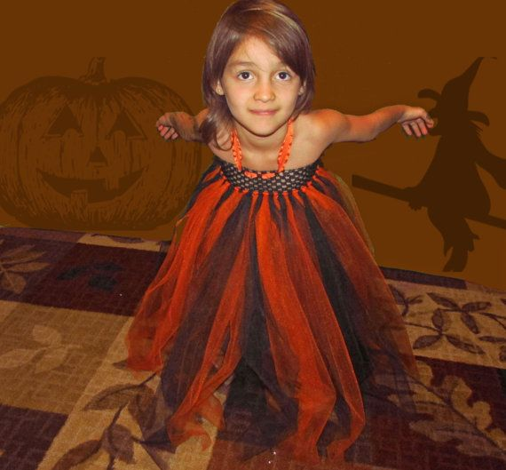 halloween or fall tutu dress with orange and black can be made in any color you want.