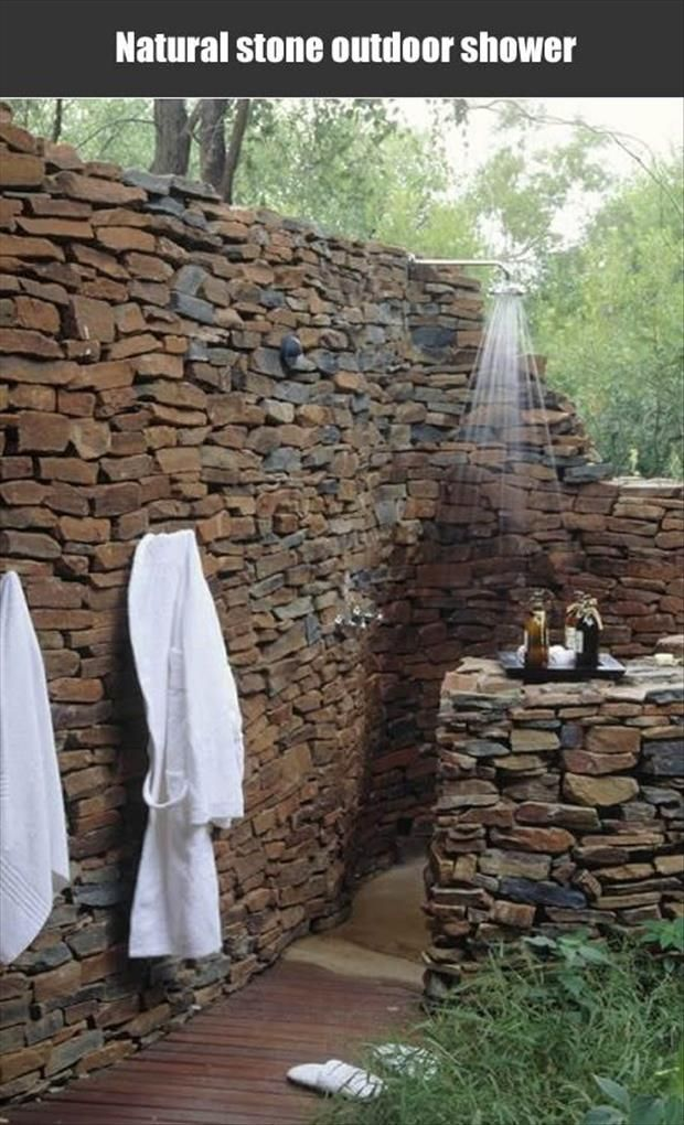 I want this outdoor shower