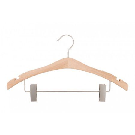 Nahanco Wooden Suit Hangers - Signature Series - Low Gloss Beech - Home Use