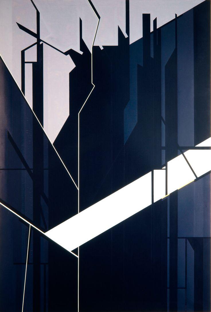 De Somnis VII Pablo Palazuelo (Madrid, 1916-Galapagar, Madrid, 2007)  Fecha de ejecución: 1998 Técnica: Óleo sobre lienzo Medidas: 233,7 x 158,6 cm Procedencia: Depósito particular