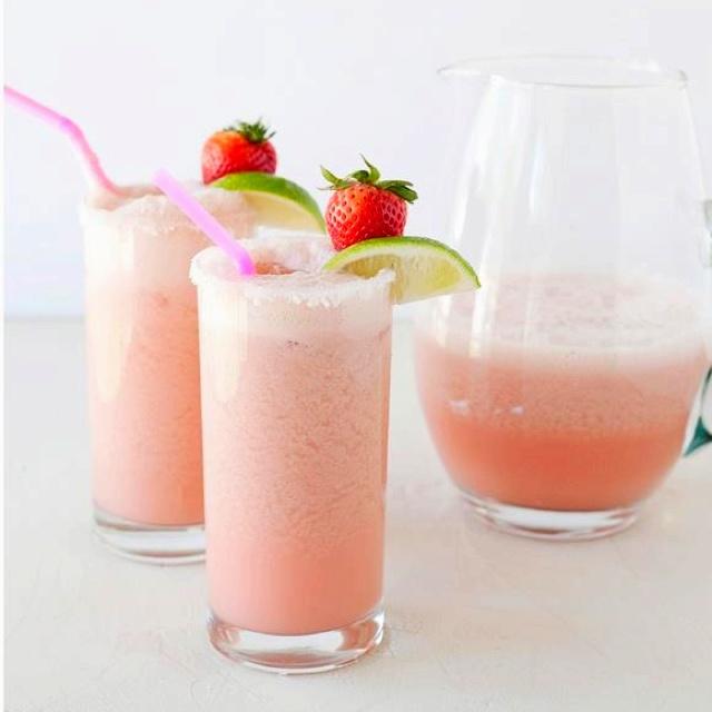 Strawberry-coconut Margarita! YUM!