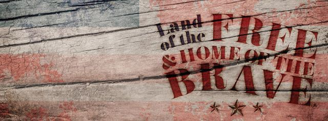 #LostBumblebee ©2015 MDBN : land of the FREE and Home of the Brave 4th of July : FACEBOOK COVER IMAGE Donate to download : PERSONAL USE ONLY!