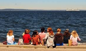 Image result for girls beach picnic