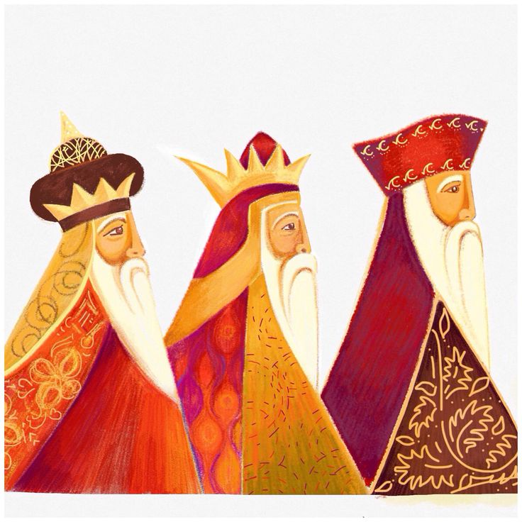 'Three kings' by Caroline Wilshire using sketches app.