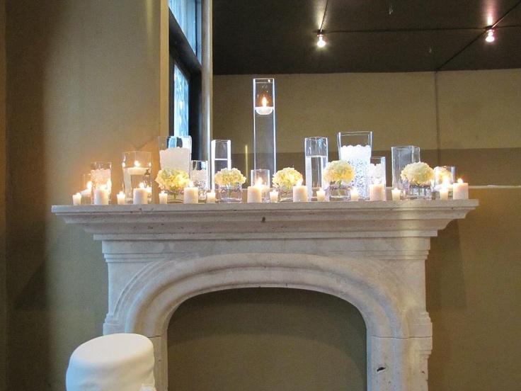 Fireplace arrangement at Wedding