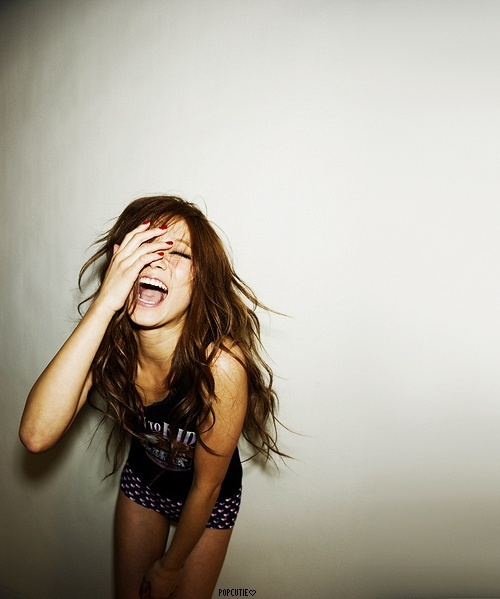 laughing! kate-spade-project: Girls Laughing, Angles, Jokes, Clean, Long Hair, Beautiful Smile, Beautiful Photography, Medicine, Laughter