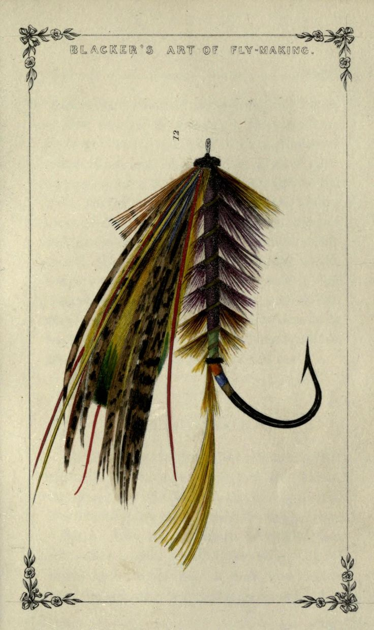 Large Spring Salmon fly, William Blacker - Art of Fly Making 1855