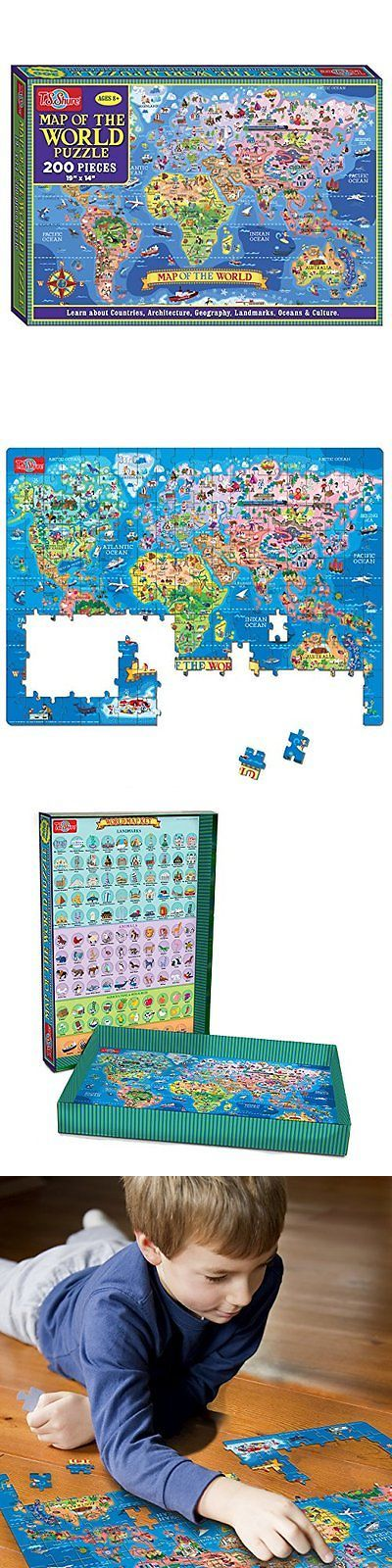 Jigsaw 19183: T.S. Shure Map Of The World Jigsaw Puzzle (200-Piece) New -> BUY IT NOW ONLY: $33.69 on eBay!