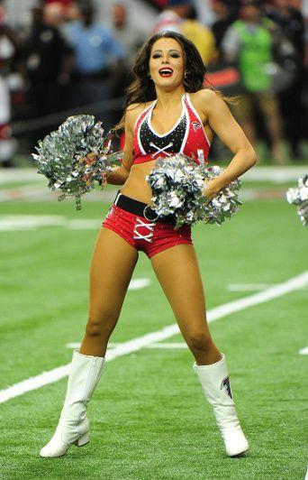ATLANTA, GA - SEPTEMBER 11: A member of the Atlanta Falcons Cheerleaders…