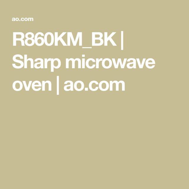 R860KM_BK | Sharp microwave oven | ao.com