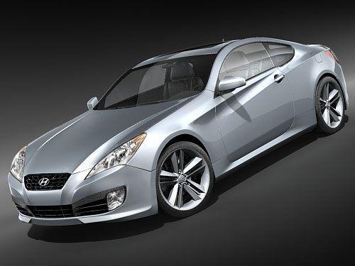 3D Hyundai Genesis Coupe 2009 Model - 3D Model