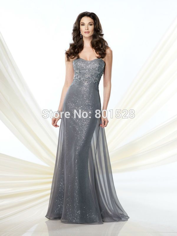 RM10 Sexy Strapless Off the Shoulder Grey Mother of the Bride Dresses 2016…