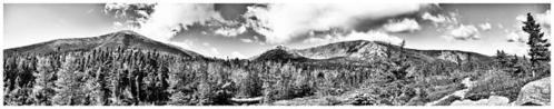 Mount Katahdin Panoramic Print By Chad Tracy