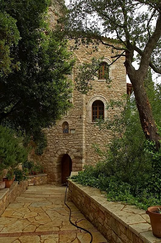 Entrance to Chryssopodaritissa Monastery - Kalanos, Achaia (by thiv56)
