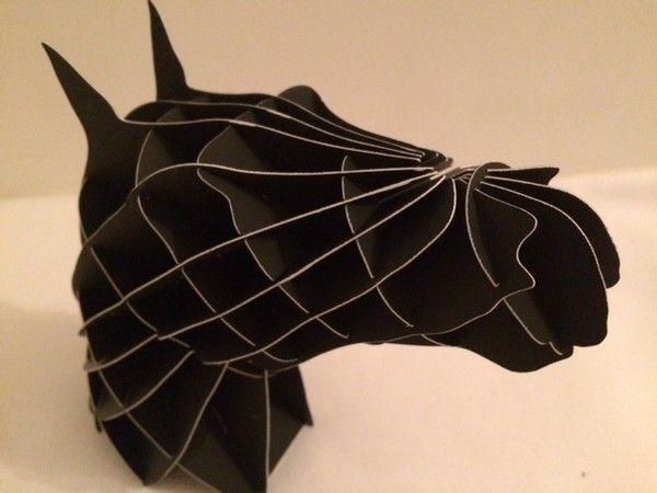 Horse Head paper model project using 123D 123D Make,123D ...