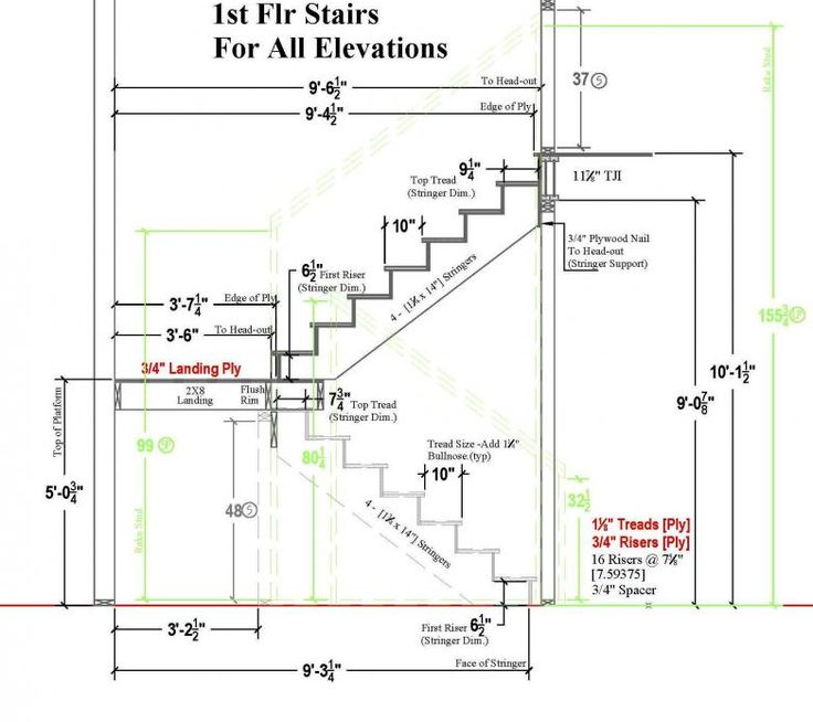TYPICAL residential STAIR PLAN DRAWING - Google Search