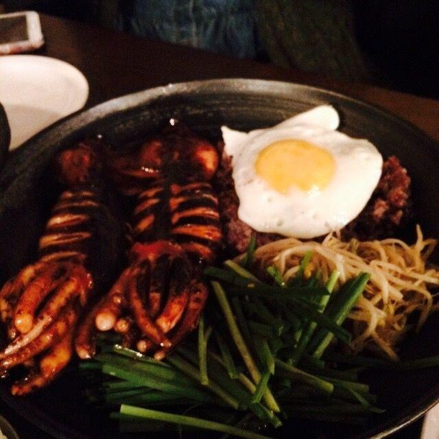 통오징어간장밥