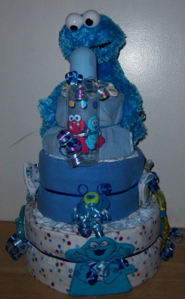 cake elmo big bird cookie monster monster baby showers baby wreaths