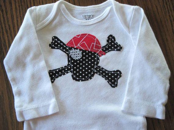 Pirate Onesie, baby boy pirate shirt, baby boy pirate onesie, toddler pirate shirt