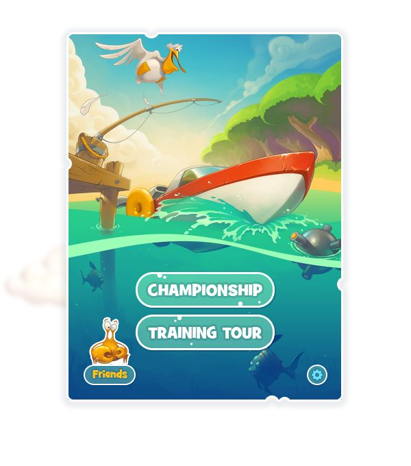 Little Boat River Rush iOS Game by Aleksandr Novoselov, via Behance