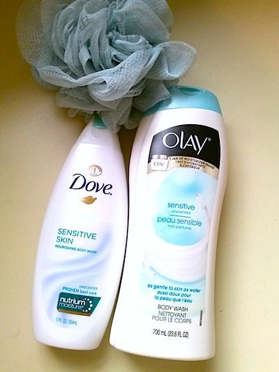 Review: Best Body Washes For Sensitive Skin. Olay VS Dove. See comparison results> #bstat