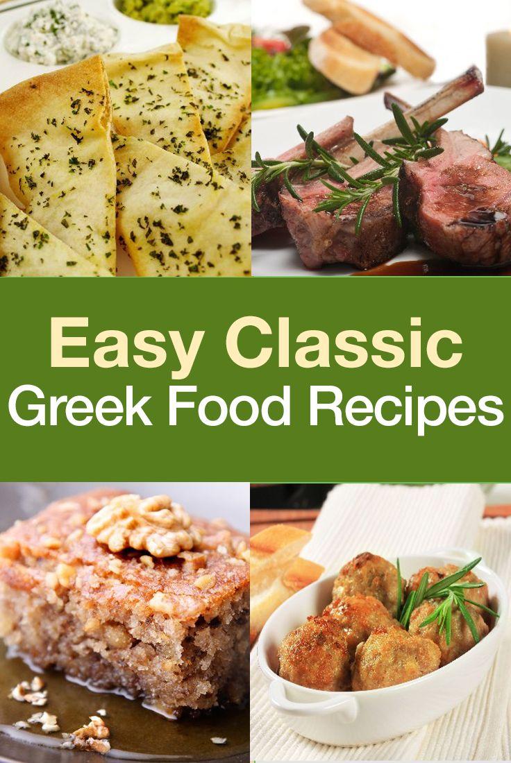 Easy Classic Greek Food Recipes:  baklava, honey cake, pita chips, etc.