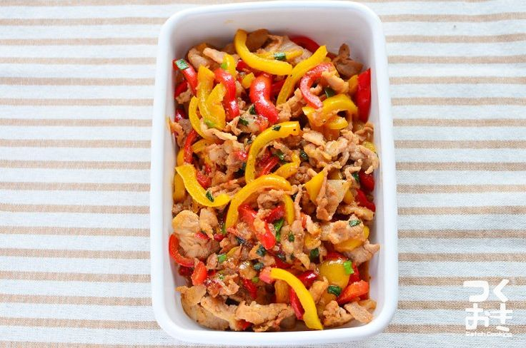 パプリカの自然な甘みがおいしいチンジャオロース風の炒め物。