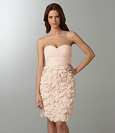 Nude bridesmaid dress