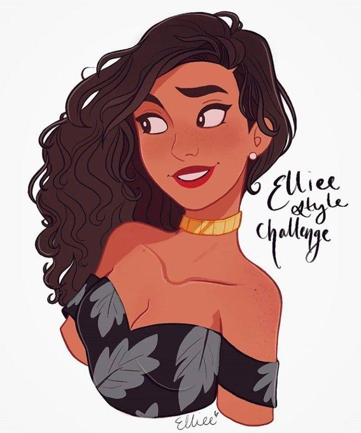 Art By Elliee Cartoon Girl Drawing Cartoon Art Styles Art Style Challenge