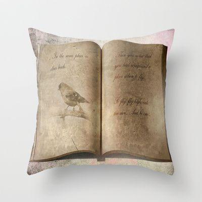 Just Fly... Throw Pillow by Oscar Tello Muñoz - $20.00