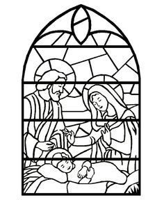 Christmas Pattern Nativity Coloring PagesPrintable