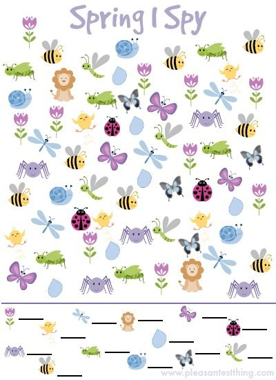 Spring I Spy Game {free printable!} Repinned by  SOS Inc. Resources  http://pinterest.com/sostherapy.