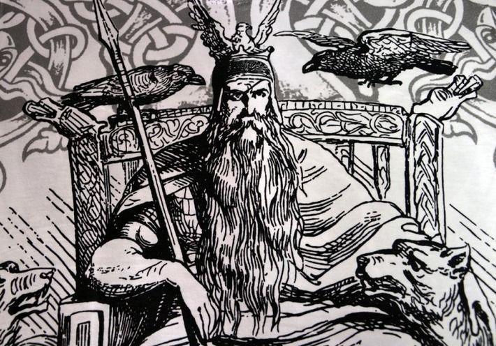 Motyw fighterski na koszulce 'Viking - Odin' HD ---> Streetwear shop: odzież uliczna, kibicowska i patriotyczna / Przepnij Pina!